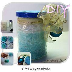 DIY Dip Dye Badesalz / dip dye bath salt  More DIY Tutorials @ www.pink-castle.de