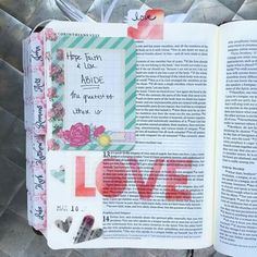 Love the wOrd LOVE and the heart stickers