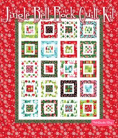 Jingle Bell Rock Quilt Kit Featuring Jingle by Ann Kelle - Fat Quarter Shop