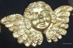 Anjo Dourado  -  Policromia sobre terracota