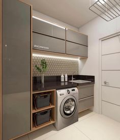functional and stylish laundry room design ideas to inspire 41 Kitchen Interior, House Design, Room Design, Interior, Home, Bedroom Design, Stylish Laundry Room, Room Remodeling, Bathroom Design