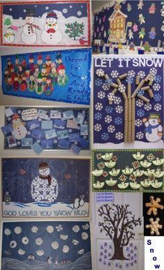 winter bulletin board page