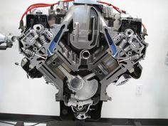 Honda V6 cross section view