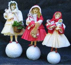 Spun Cotton Ornament Class by Mail by asweetremembrance on Etsy