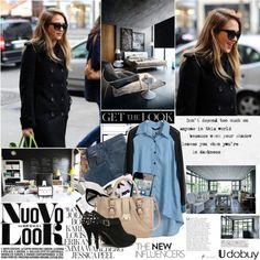 """Jessica Alba"" by mars ❤ liked on Polyvore"