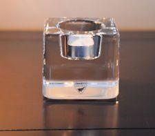 Orrefors Sweden  ICE CUBE Votive Candle Holder Warff 24% Lead Crystal - $14.99