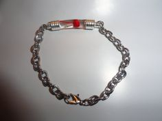 Name on Rice Bracelet Complete with Chain by CrystalsVialsGalore, $10.00