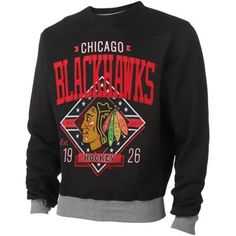 Mens Chicago Blackhawks Black Game Day Crewneck Sweater I APOLOGIZE FOR THESE PINS BUT ITS FOR A CONTEST AND I WANT TO WIN $1000 ♥ Jacie