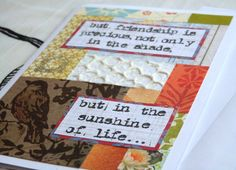 Friendship in Shade and Sunshine Pay it Forward by harmoneyestudio, $7.00