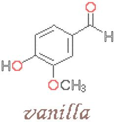 Vanilla Molecule Counted Cross Stitch Pattern PDF by robinsdesign, $5.00