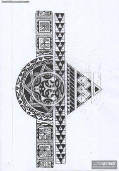diseño tatuaje brazalete - Buscar con Google