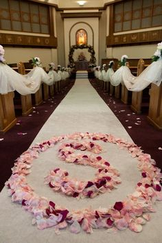 The church decorations :)  I love it!  Eco-Friendly Rose Petals- www.flyboynaturals.com