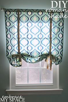 DIY tieup window shades | Why Buy When You Can DIY?: A Simple Roman Shade | embrace my space