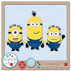 Minions Digital Clip Art