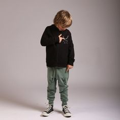 Littlehorn Wild Thing Track Pant in Moss Stylish Boy Clothes, Stylish Boys, Mix N Match, Boy Outfits, Track, Bomber Jacket, Comfy, Logo, How To Wear