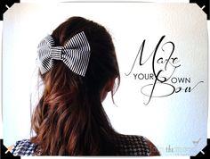 DIY Hairbow. Gotta make this soon!