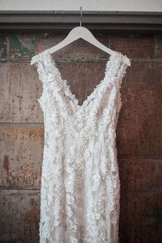 Slinky dress, sexy romance, appliqué overlay // Hannah Nicole Photography