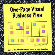 Platform Planner - A One-Page Visual Business Plan by Angela Bowman at www.angelab.me #platformplanner #businessmodelgeneration