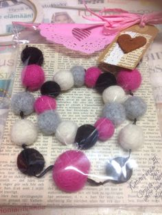 Felted pearls