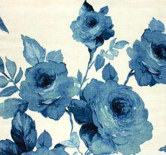blue vintage shabby roses