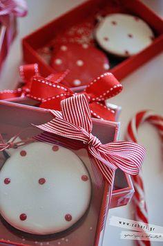 christmas cookies and christmas packaging