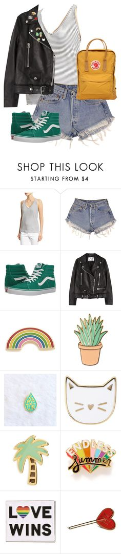 """""""Untitled #13275"""" by alexsrogers ❤ liked on Polyvore featuring Zadig & Voltaire, Levi's, Vans, Acne Studios, Georgia Perry, Des Petits Hauts, Dogeared, ban.do and Fjällräven"""