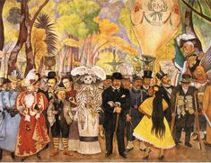 Diego Rivera. Can you spot his wife?