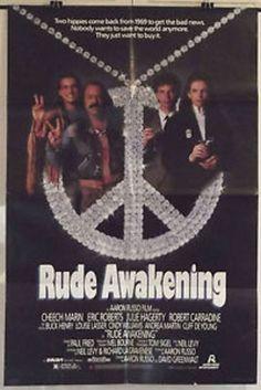 RUDE AWAKENING - CHEECH MARIN / JULIE HAGERTY - ORIGINAL USA 1SHT MOVIE POSTER