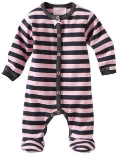 Coccoli Baby-Girls Newborn Urban Life Striped Footie: Clothing