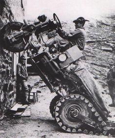 Moto Guzzi Mule, 1965. http://perrisautospeedway.com #autospeedway #speedway #attractions