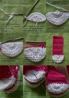 27 Ideas for crochet socks for kids baby boots Crochet Baby Boots, Crochet Baby Sandals, Booties Crochet, Crochet Slippers, Baby Booties, Knitted Baby, Baby Patterns, Knitting Patterns, Crochet Patterns