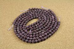 Leipidolite Beads - Round Smooth Purple Stone Beads, 8mm, 16 inch strand by…
