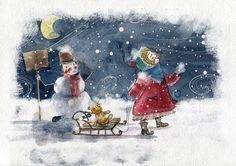Сообщество иллюстраторов | Иллюстрация Снегопад.