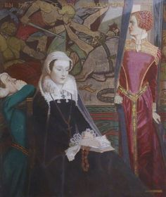 British Paintings: John Duncan - Mary Queen of Scots at Fotheringhay, Victorian Paintings, Victorian Art, Mary Queen Of Scots, Queen Mary, John Duncan, Glasgow Museum, Scotland History, Paisley Art, Mary Stuart