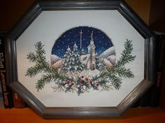 Cross stitch christmas picture