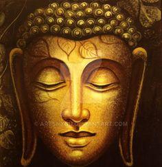 Gautam Buddha painting by ArtsNyou