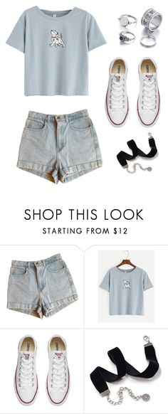 """""""Sin título #71"""" by abril-422 on Polyvore featuring Belleza, American Apparel, Converse y Sweet Romance"""