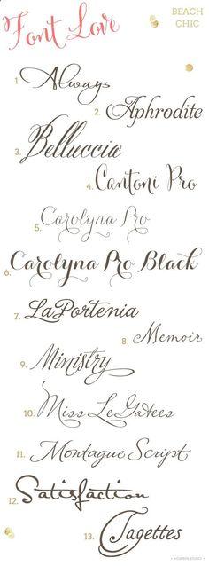 Beach Chic Wedding Invitation Fonts
