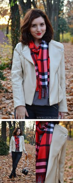 Perfect handmade gift for the holidays! DIY a flannel and fringe scarf that any girl would love to wear. All Scarfs are made from SheIn.