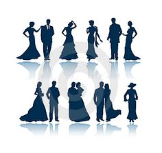 Evening silhouettes Vector