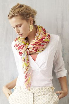 Colorful scarves add a beautiful touch to any outfit