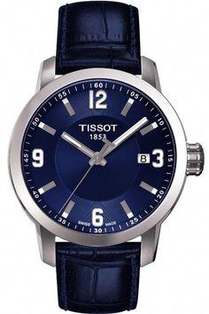 006458bf4c7 Tissot prc200 Gents T Sport Blue Leather Strap Watch T055.410.16.047.00 235  245.00