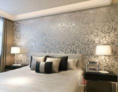 embossed vinyl wallpaper in silver | free shipping hot sale embossed pattern vinyl waterproof wallpaper