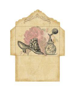 7 Free Fancy Flap Envelopes – Vintage Freebies Journal Cards, Junk Journal, Journal Ideas, Farm Animal Crafts, Paper Art, Paper Crafts, Book And Frame, Envelope Art, Vintage Lettering