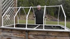 Build A Mini Greenhouse For Raised Beds (fence the bottom section for a rabbit proof fence)??