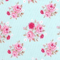 pink rose teal
