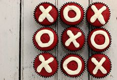 Red Velvet hugs and kisses cupcakes
