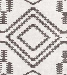 Navaho Grey Fabric A smart and contemporary kilim print on velvet. Navajo Fabric, Ikat Fabric, Grey Fabric, Chair Fabric, Diy Carpet, Modern Carpet, Hall Carpet, Navajo Pattern, Pattern Texture