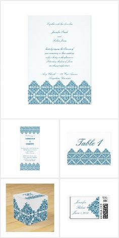 The Moroccan Blue design is a modern take on a classic Moroccan tile. An elegant design perfect for your special day. The background is a bright white with a blue triangle damask or filigree design. Moroccan Blue, Filigree Design, Invitation Set, Blue Design, Damask, Special Day, Triangle, Reception, Wedding
