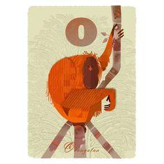 O for Orangutang Print